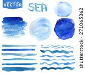 watercolor hand painting... | Shutterstock .eps vector #271065362