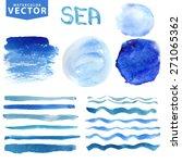 watercolor hand painting... | Shutterstock .eps vector #271065362