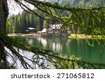 shelter in high mountain with... | Shutterstock . vector #271065812