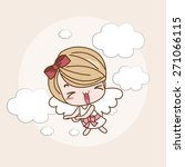 angel girl   lady   woman... | Shutterstock .eps vector #271066115