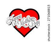 beautiful happy mother s day... | Shutterstock .eps vector #271068815