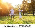 happy young family spending... | Shutterstock . vector #271069022