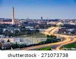 Washington  D.c. Cityscape Wit...