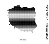 dotted map of poland for your...   Shutterstock .eps vector #271075652
