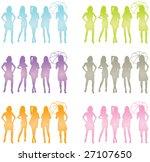 women posing silhouette | Shutterstock .eps vector #27107650