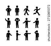 vector human body action poses  | Shutterstock .eps vector #271085372