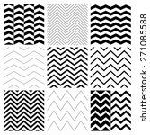 Set Of Nine Black And White...