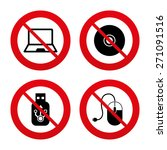 no  ban or stop signs. notebook ... | Shutterstock .eps vector #271091516