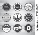 vintage labels template set ... | Shutterstock .eps vector #271092062