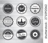 vintage labels template set ... | Shutterstock .eps vector #271092062