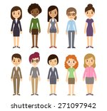 set of diverse businesswomen... | Shutterstock .eps vector #271097942