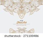 thai art element for design ... | Shutterstock .eps vector #271100486