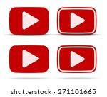 play icons. red flat vector... | Shutterstock .eps vector #271101665
