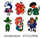 fairy tales characters... | Shutterstock .eps vector #271112906