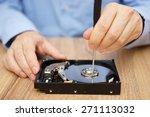 engineer is recovering data... | Shutterstock . vector #271113032