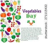 bright vegetable set in flat... | Shutterstock .eps vector #271115432