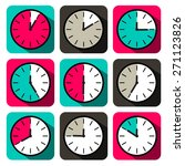 retro vector flat design clock...