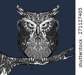 vector stylized hand drawn owl... | Shutterstock .eps vector #271127405
