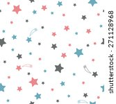cute seamless pattern with stars | Shutterstock .eps vector #271128968