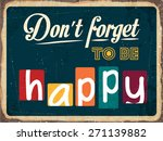 "retro metal sign ""don't forget... 