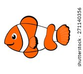 Clown Fish Cartoon Vector...