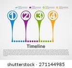 infographics timeline concept. | Shutterstock .eps vector #271144985