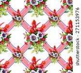 watercolor garden flowers...   Shutterstock .eps vector #271153976