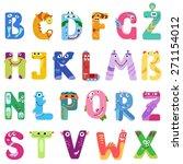 consonants of the latin... | Shutterstock .eps vector #271154012