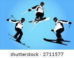 vector of skiers in the air | Shutterstock .eps vector #2711577