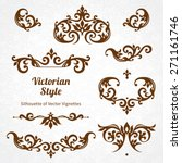vector set of vintage ornaments ... | Shutterstock .eps vector #271161746