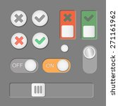 vector toggle switch icons dark ...
