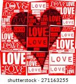love heart with love letter...   Shutterstock .eps vector #271163255