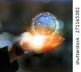 businessman holding earth   Shutterstock . vector #271165382