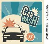 car wash  automotive  bubbles... | Shutterstock .eps vector #271168202