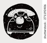 doodle toy phone | Shutterstock . vector #271192406
