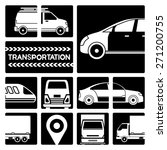 garage service  vehicle icons | Shutterstock .eps vector #271200755