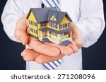 real estate agent  house  human ... | Shutterstock . vector #271208096