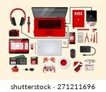 red velvet complete modern... | Shutterstock .eps vector #271211696