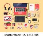pinkies complete modern vector... | Shutterstock .eps vector #271211705