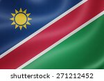 namibia flag on the fabric... | Shutterstock . vector #271212452