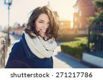 pretty young woman posing... | Shutterstock . vector #271217786