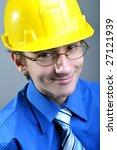 young engineer wearing hard hat ... | Shutterstock . vector #27121939