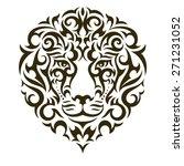 lion tattoo illustration... | Shutterstock .eps vector #271231052