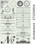 vector set  calligraphic design ... | Shutterstock .eps vector #271234016