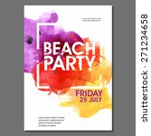 summer night party vector flyer ... | Shutterstock .eps vector #271234658