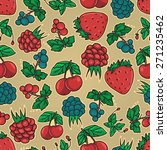 seamless pattern with summer... | Shutterstock .eps vector #271235462