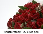 Stock photo bouquet of red roses 271235528