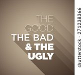 poster the good the bad   the... | Shutterstock .eps vector #271238366