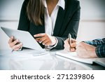two business people in a... | Shutterstock . vector #271239806