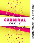 vertical yellow carnival party... | Shutterstock .eps vector #271246502